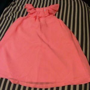 Girl's neon dress